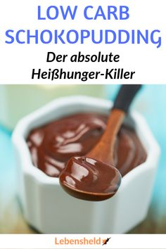 Very easy recipe for a low carb chocolate pudding. The perfect snack for cravings. Very easy recipe for a low carb chocolate pudding. The perfect snack for cravings. Low Carb Desserts, Low Carb Recipes, Cheap Meals, Easy Meals, Law Carb, Fun Easy Recipes, Snacks Recipes, Pasta Recipes, Healthy Snacks