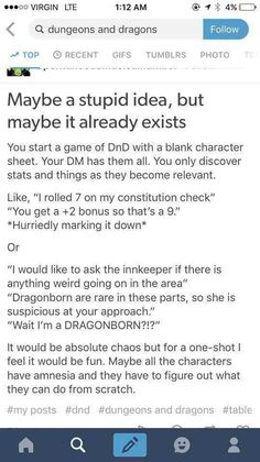 Post with 2265 votes and 97096 views. Tagged with dnd, dungeons and dragons, d and d, dumpocalypse, lucy loves poultry; D&D And Related (THE DUMPOCALPYSE NUMBER Writing Tips, Writing Prompts, Dnd Stories, Dnd Funny, Hilarious, Dungeons And Dragons Memes, Dragon Memes, All Meme, Tabletop Rpg