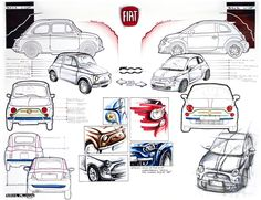 SKETCHES FIAT 500 - Cerca con Google