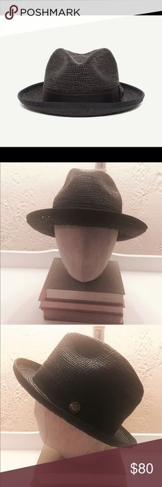 GOORIN BROS HAT - Players Club 100% Toquilla Straw Goorin Bros   Player's Club - packable panama straw   Retail: $180  NOW ONLY $80 !!!  NEW WITH TAGS!   Size: Large Color: Black   MADE IN USA  HANDMADE Goorin Bros Accessories Hats
