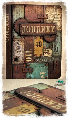 Lets get Rusty!! Scrap Metal Secret Book, painted with DecoArt Media Fluid Acrylic & Mediums..