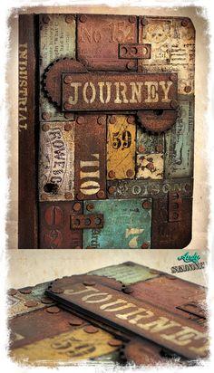 Lets get Rusty!! Scrap Metal Secret Book, painted with DecoArt Media Fluid Acrylic & Mediums..