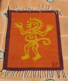 Awesome Zapotec Rug Weaving Monkey Oaxaca | This Wool Zapotec Tapeteu2026 | Flickr