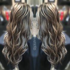 Balayage hair painting by @jplatinumhair!
