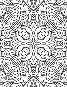 Glowing Mandalas: Mandalas with a Black Background (Mandala Coloring Books For Adults) (Volume Mandala pour adulte gratuit à imprimer Fruit Coloring Pages, Pattern Coloring Pages, Printable Adult Coloring Pages, Flower Coloring Pages, Mandala Coloring Pages, Coloring Books, Coloring Pages For Adults, Elephant Coloring Page, Silkscreen