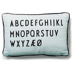 Design Letters ABC Cushion (72 CAD) ❤ liked on Polyvore featuring home, home decor, throw pillows, stripe throw pillows, cotton throw pillows and striped throw pillows