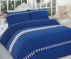 Elliot Printed Blue Duvet Quilt Cover Set — Linens Range
