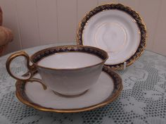 Antique Aynsley Embossed Cup, Saucer & Plate (Trio) c1891 - 1910 by Collectablesgalore on Etsy