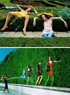 Jessica Stam, Karen Elson, Missy Rayder & Elise Crombez by Steven Meisel for Vogue Italia August 2004