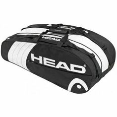 Head Core Combi Tennis Bag - Black/White by Wilson. $34.25. Accessory pocket. Dimensions: L x H x W: 29 x 11 x 12 in. Two adjustable, padded shoulder straps and carry handle. Large main compartment, and racquet compartment for 3-5 racquets. The Head Core Combi is a simple yet functional carry bag that can hold up to 5 tennis racquets. It features a large main compartment as well as a racquet compartment to fit 3-5 racquets at a time. There is also a side accessory po...