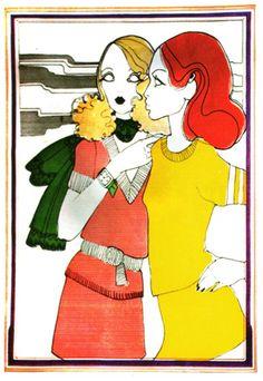 fashion illustration  Petticoat magazine  1968