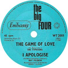 The Big Four (The Game Of Love / I Apologise) - The Typhoons / Ray Pilgrim (WT2001) Feb '65