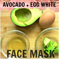 DIY Avocado Egg White Face Mask - We L-O-V-E this mask! Not only is it rich in nourishing vitamins and anti-oxidants, but it also helps with blemishes. Just don't eat it. :)