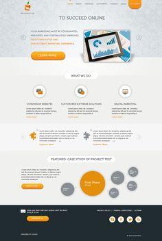 Web design for a digital agency by ~samadarag on deviantART
