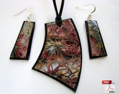 Hidden Flowers Polymer Clay Jewelry Tutorial