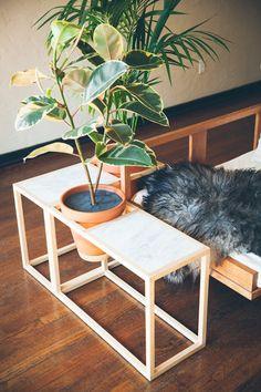 Frame Planter - Side Table by Trey Jones Studio • WorkOf