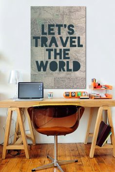 Travel the World by Leah Flores Canvas Print by iCanvasART on Take Me Home, Build Your Dream Home, Exterior Design, Interior And Exterior, Picture Song, Interior Inspiration, Design Inspiration, Interior Design Boards, College Room