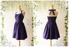 The Goddess Navy Dress Party Dress Vintage Inspired by Amordress, $49.00