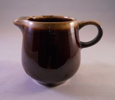 McCoy Creamer Brown Drip Glaze McCoy Pottery Marked by TheTaoOfCat