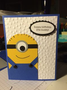 Despicable Me Minion Card - Stampin Up