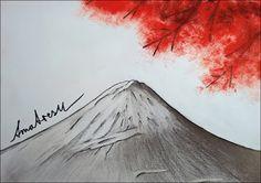 Kevin Mühlfort: Amaterasu Bleistift, Aquarell und Copic. 2017  Amaterasu - die Sonnegöttin die Hinter dem Berg Fuji wohnt. Ein kleiner Tribut an klassische Japanische Kunst.