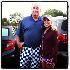 Sara Hurwitch w/ her Daddy-Caddie at the Sara Bay Classic #LPGA Symetra Tour (Day 1) rocking #Loudmouth Golf