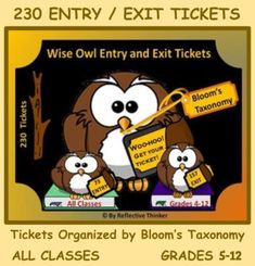 School Resources, Teacher Resources, Ap Language, Ap Literature, Ap English, Exit Tickets, Blooms Taxonomy, Differentiated Instruction, Formative Assessment