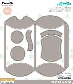 metaliks pillow box - Métaliks Kesi'Art pour toutes vos réalisations Scrapbooking