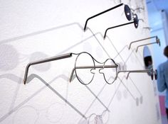 MonoFrame Glasses by Parsha Gerayesh of RCA's Design Products are glasses whose frame is formed from a single material. They borrow techniques from spring manufacturing //