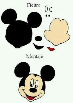 Moldes - Minnie e Mickey Mouse Mickey E Minnie Mouse, Theme Mickey, Fiesta Mickey Mouse, Mickey Party, Mickey Mouse Birthday, Mickey Mouse Crafts, Mickey Mouse Stencil, Mickey Mouse Template, Mickey Mouse Quilt