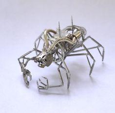 Mechanical Arthropod Beastie Recycled Watch by amechanicalmind, $350.00