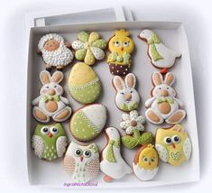 Baby Shower Cookies, Easter Cookies, Sugar Art, Cupcakes, Cookie Decorating, Gingerbread, Icing, Biscuits, Cooking Recipes