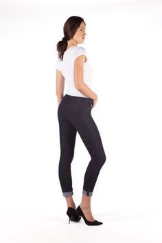 yoga high rise skinny jeans with cuff - Google Search