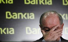 """Rodrigo Rato, chairman of ailing Spanish lender Bankia SA and former head of the IMF, is formally charged for fraud, as are his 32(!) colleagues on the board, most of them former politicians. This is the main bank that supposedly """"needs"""" to be rescued by the Germans and Dutch: waste of money and a fraud by the Spanish government!"""
