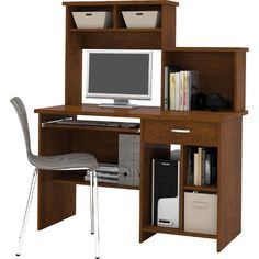 Red Barrel Studio® Cushman Computer Desk with Bookcase