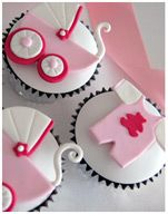 Baby Girl Christening Cupcakes, Baby Shower Cupcakes, Prams and Bibs Cupcakes designed by EliteCakeDesigns Sydney Cupcakes Design, Cake Designs, Christening Cupcakes, Baby Girl Christening, Baby Shower Cupcakes For Girls, Baby Shower Cakes, Baby Cookies, Cupcake Cookies, Funny Cake