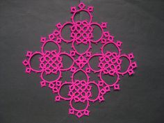 Square tatting piece from a very old pattern