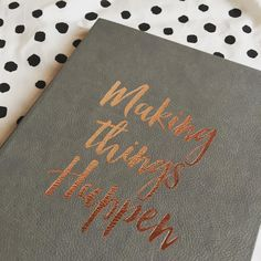 Stay tuned, I got my notebook ready to get some work done!  #everythingemeraldblogcomingsoon #blogcomingsoon #dalmatiandots #notebook #makingthingshappen