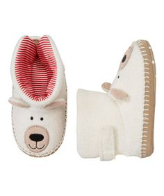 Look at this White Snow Bear Slipper on #zulily today!