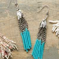 Tassels are trending! We are loving the beaded tassel trend and could not wait to share our beaded tassel tutorial with you! What you will need: Seed Beads Beading Thread Wire Needle Bead Cap or End Caps Guinevere Beaded Tassel Lariat Necklace If Queen Guinevere wore a tassel necklace, this would be the necklace. With …