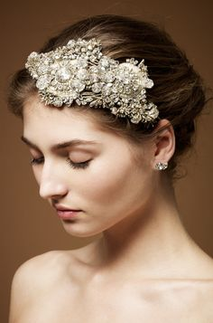 Cadeaux II Bridal Headband by Jenny Packham--in love with this but wayyy out of my price range