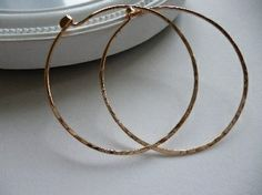 Rose gold hoops by Crystal Stone