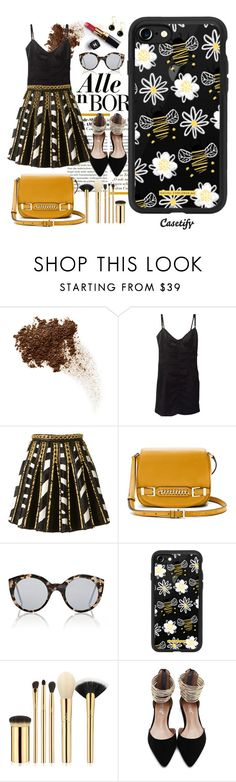 """Bee a lady 🐝"" by casetify ❤ liked on Polyvore featuring Dolce&Gabbana, Balmain, Diane Von Furstenberg, Illesteva, Chanel, Casetify and tarte"
