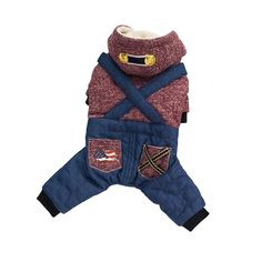 Adarl Winter Warm Hoodie Costume Clothes Coat Jacket Strap Jeans Clothing For Puppy cat Dog Cat * See this great image  : Cat sweater
