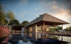 41 Cozy Tropical Beach Villa Design Ideas - About-Ruth Beautiful Room Designs, Tropical Beach Resorts, Where Is Bora Bora, Beach Pink, Tropical Architecture, 3d Architecture, Modern Bungalow, Beach Bungalows, Beach Villa