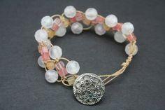 very feminine macrame bracelet