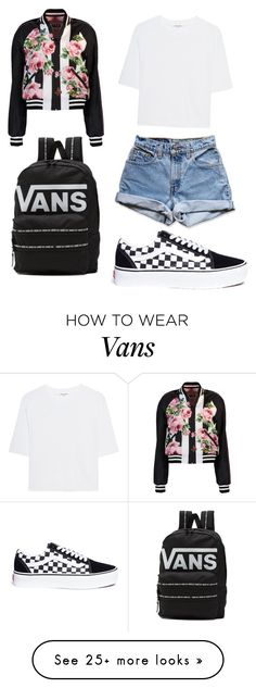 """""""School"""" by megzy12344 on Polyvore featuring Dolce&Gabbana, Levi's, Cotton Citizen and Vans"""