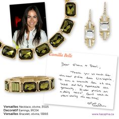 Have you heard? Stars love our jewellery. Camilla Belle is such a huge fan of lia sophia that she wrote a personal thank-you note!