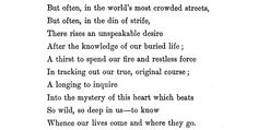 """Excerpt from """"The Buried Life"""" by Matthew Arnold"""