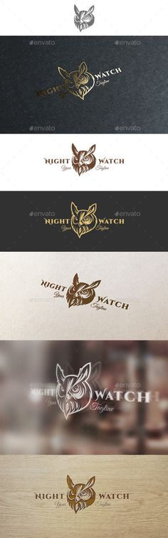 Buy Night Watch Logo by DTwister on GraphicRiver. Item description: Excellent logo, which is an image of a eagle-owl. Suitable for any business and companies who want . Logo Design Template, Logo Templates, Nature Green, Owl Logo, Bird Logos, Information Graphics, Creative Icon, Animal Logo, Icon Design
